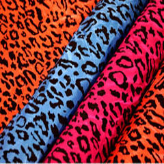 Cheetah Flocking Taffeta