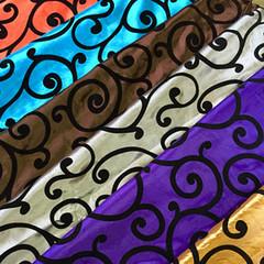 Swirl Flocking Taffeta