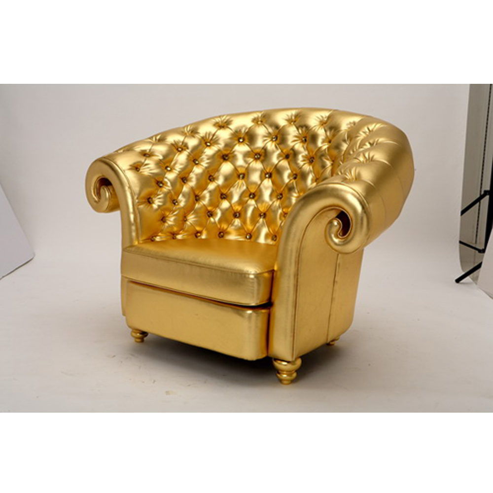 Gold Tufted Chair Gala Rentals