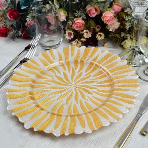 charger plate GP-0224-gold white(1)