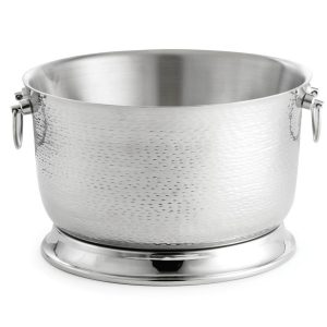 tablecraft-btb2111-round-double-wall-stainless-steel-beverage-tub-with-base-21-x-11