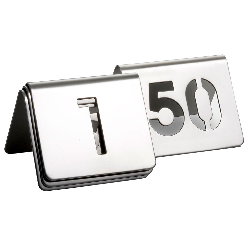 table numbers stainless steel tent cut out set 1 to 50 gala rentals
