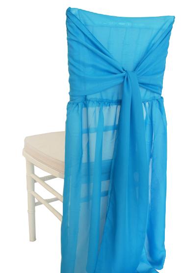 Chiffon Chiavari Chair Cover With Sash U2013 Turquoise
