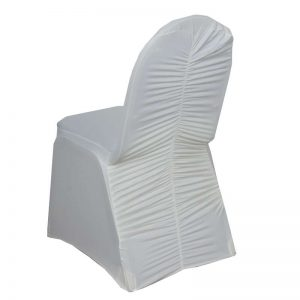 Milan Banquet Chair Cover - Ivory