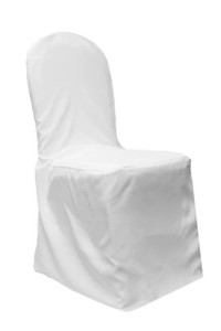 Polyester Banquet Chair Cover - White
