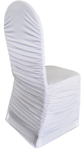 Rouge Spandex Chair Cover - White