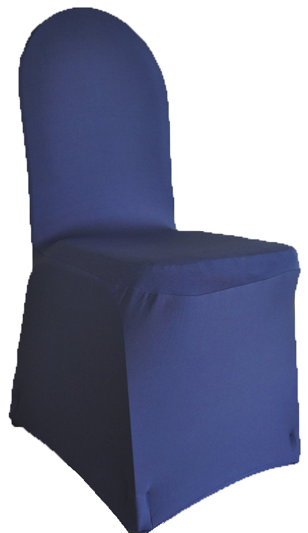 Delightful Spandex Chair Cover U2013 Navy Blue