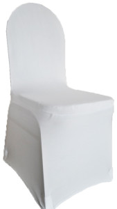 Spandex Chair Cover - Platinum